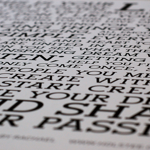 Holstee Manifesto Close Up